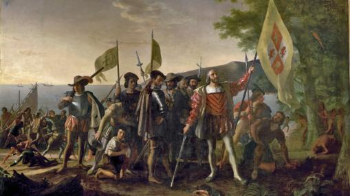 Resultado de imagen de Cristóbal Colón tomando posesión de las Indias Occidentales