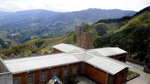 Vista de la Catedral, el lujoso penal construido para Pablo Escobar