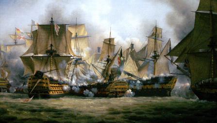 Combate entre buques en Trafalgar