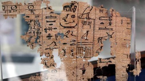 Papiros de la exposición «Los papiros de Jofu de Wadi al Yarf»