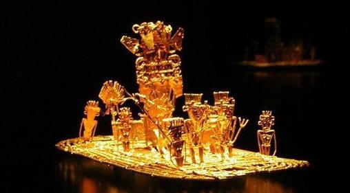 Balsa muisca que evidencia las ceremonias sagradas que dieron origen a la leyenda de «El Dorado»