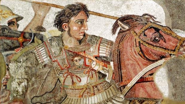 Mosaico de Alejandro Magno procedente de la Casa del Fauno en Pompeya