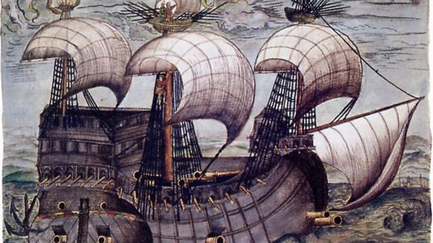 El galeón «La Santa Trinidad», que formó parte de la expedición a Venezuela en nombre de la familia Welser