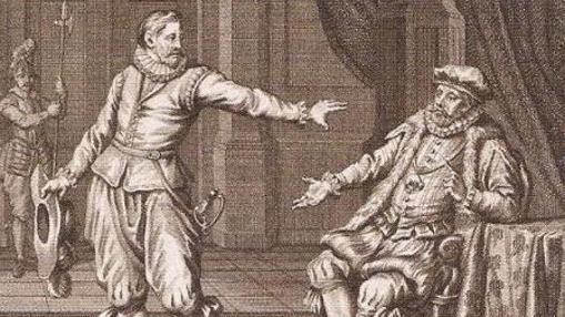 Grabado de Cristóbal de Mondragón y Luis de Requesens