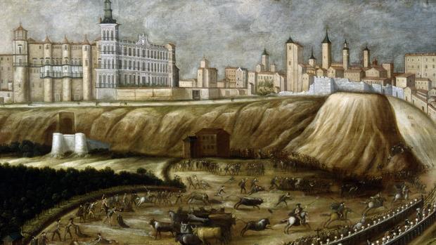Vista del Alcázar Real y entorno del Puente de Segovia, anónimo, c. 1670.