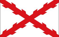 Cruz de Borgoña en una bandera