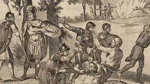 Soldados romanos asesinan druidas