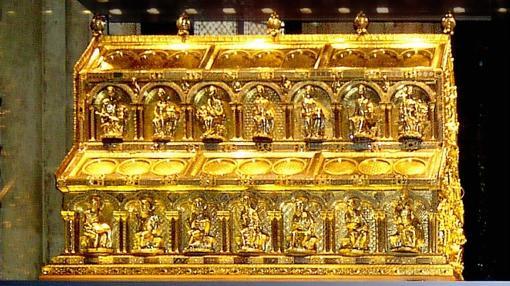 Relicario de los Reyes Magos, donde se cree se encuentran sus restos (Wikimedia)