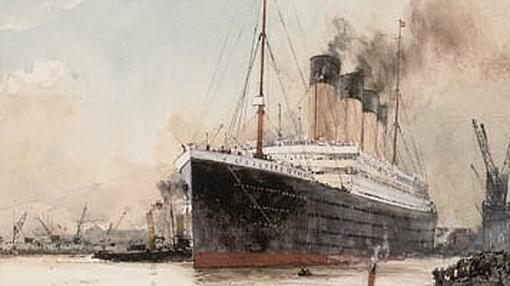 El «Titanic», saliendo de puerto