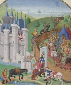Ilustración medieval de un episodio de la Guerra de los 100 años