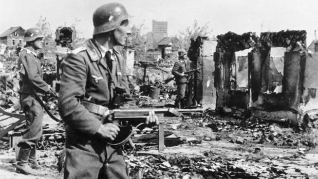 Soldado alemán en Stalingrado