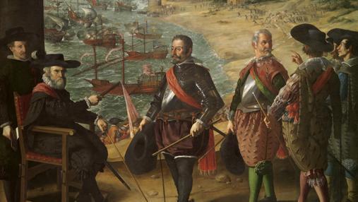 Representación del gobernador de Cádiz dando instrucciones a sus subordinados para organizar la defensa de la ciudad
