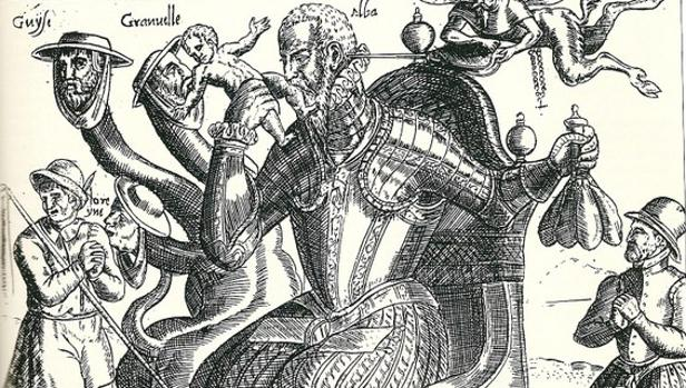 El Duque de Alba en un grabado anónimo de hacia 1572