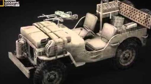 Los jeeps portaban dos ametralladoras Vickers
