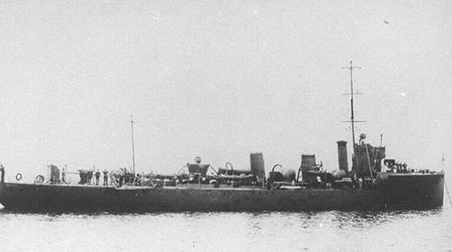 El destructor que escoltó al «SS Mendi»