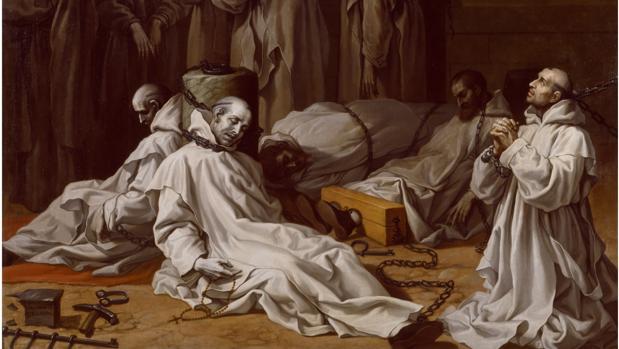 Prisión y muerte de los diez miembros de la cartuja de Londres