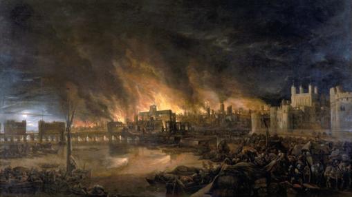 Cuadro del Gran Incendio de Londres de 1666