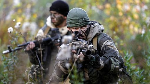Soldados de las fuerzas especiales de las Fuerzas Armadas de la Federación Rusa