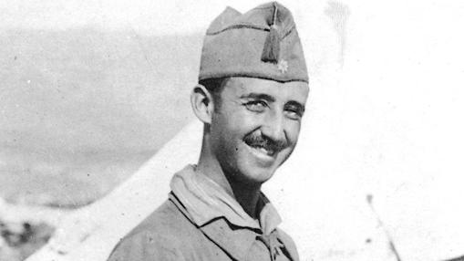 Un joven Francisco Franco, en 1920