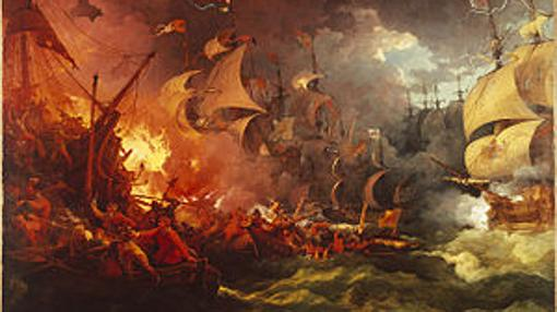 "La ""Armada Invencible"", interpretada por Philippe-Jacques de Loutherbourg (1796)"