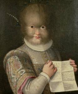 Antonietta González, retratada por Lavinia Fontana, 1583.