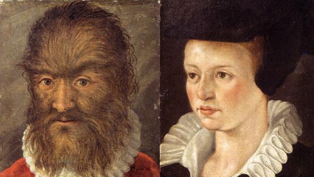 Pedro González y su esposa Catherine, retratos de la colección Ambras