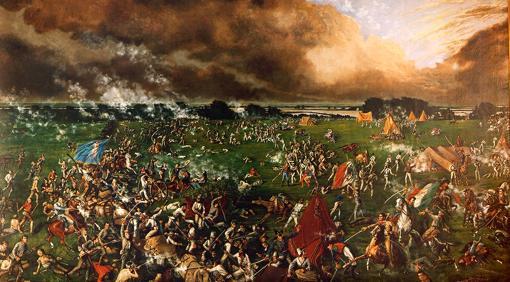 Pintura de la batalla de San Jacinto, por Henry Arthur McArdle