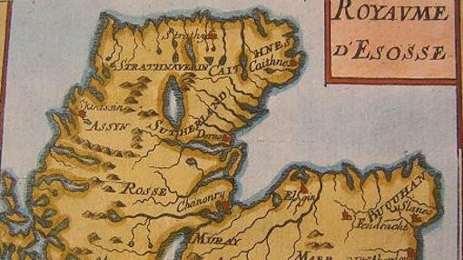 Mapa de Escocia en 1719