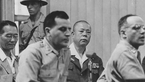 El general japonés Tomoyuki Yamashita, durante su juicio en Manila en 1945