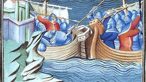 Batalla naval de la flota castellana en el siglo XIV