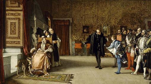 Presentación de Juan de Austria a Carlos V en Yuste. Eduardo Rosales,