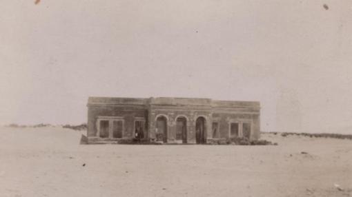 Fachada del hotel en una imagen de época