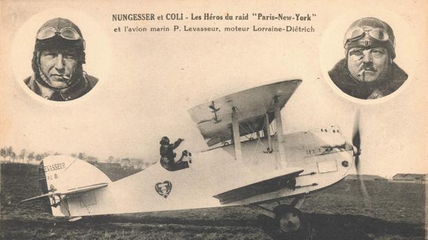 «El Pájaro blanco» en abril de 1927