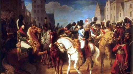 Napoleon conoce a Alejandro I en Tilsit