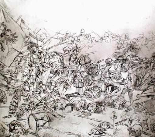 Boceto original de Ferrer-Dalmau