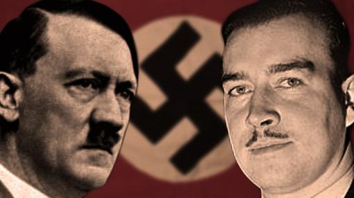 Hitler y William, en una composición