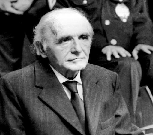 Klaus Barbie durante el juicio celebrado en 1987