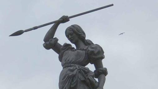 María Pita se distinguió en la defensa de La Coruña, en el ataque inglés de 1589