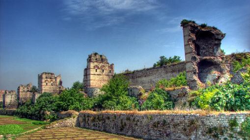 Restos de la muralla de la ciudad hoy