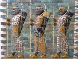 Representación de soldados persas, probablemente del cuerpo de los Inmortales