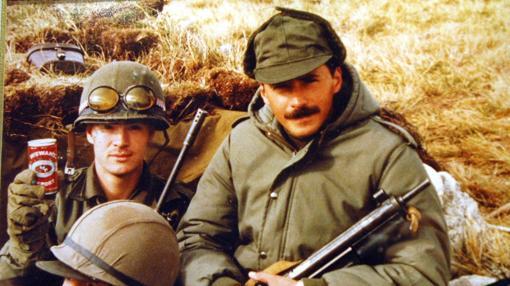 Soldados argentinos, en las Malvinas