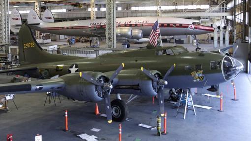 B-17 modelo F en un museo de Seattle.