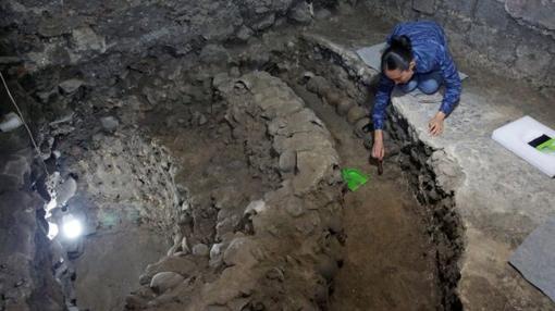 Parte de las excavaciones