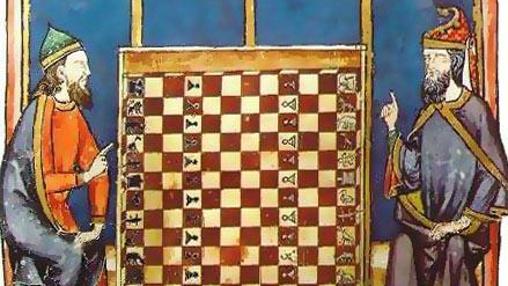 Sefardíes jugando al ajedrez. Libro de los juegos (1251-1283), encargado por el Rey Alfonso X