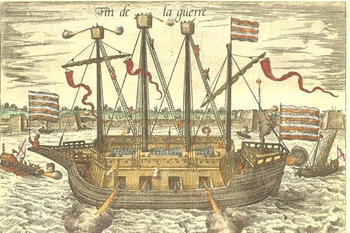 Ilustración del barco «El Fin de la Guerra»