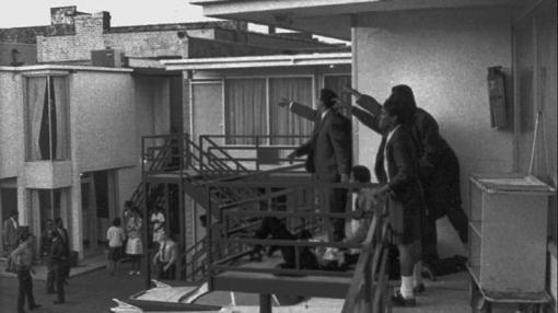 Fotografía tomada instantes después del asesinato del Dr. King