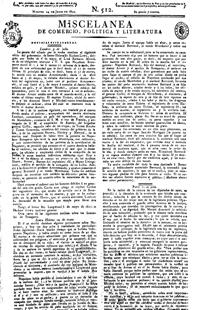 Número de «Miscelánea», publicado el 24 de julio de 1821