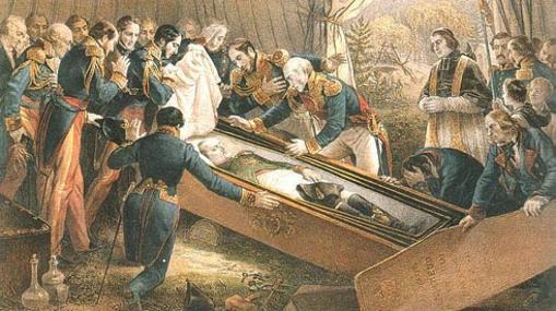 «Muerte del Emperador Napoleón», obra del barón Karl August von Steuben (1788-1856)
