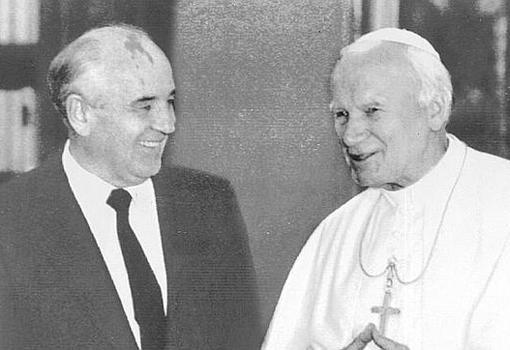 Encuentro entre Mijail Sergeyevich Gorbachov y Juan Pablo II en diciembre de 1991