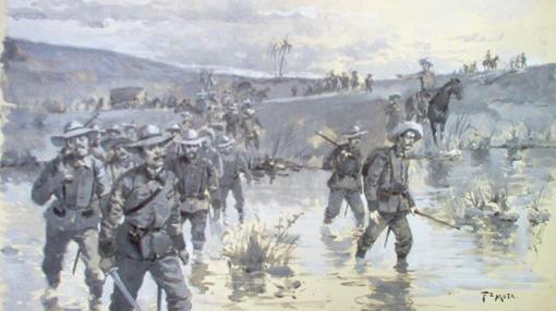 Soldados españoles durante la Guerra de Cuba (1895-1898)